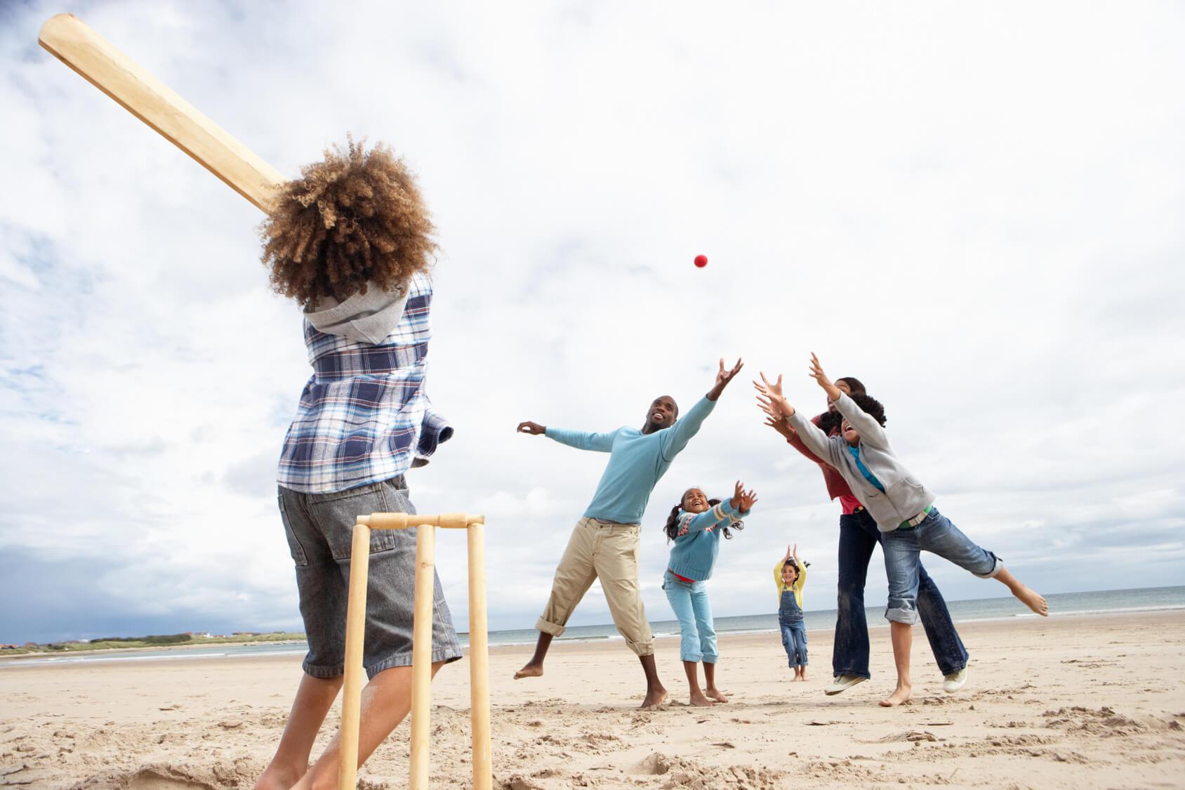 เล่นคริกเก็ตชายหาด