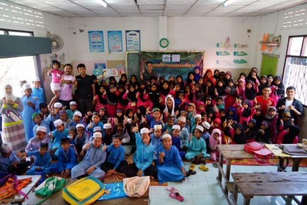 เด็กๆที่โรงเรียนตาดีกาบ้านบานา